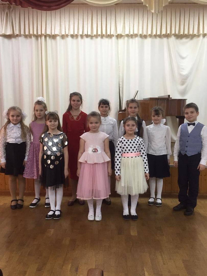 Школьный конкурс на хоровом отделении