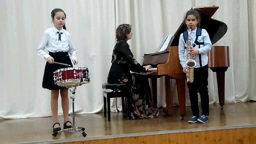 Отчетный концерт на отделении духовых и ударных инструментов